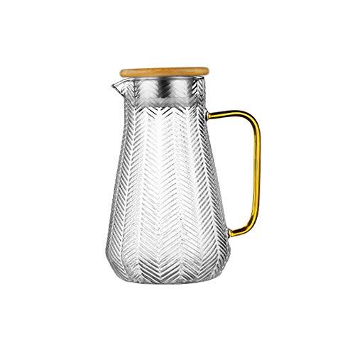 Jarra de Agua La jarra de vidrio de silicio de Gaopeng y la jarra de vidrio en forma de oreja irregular de trigo pueden soportar diferencias de temperatura instantáneas Jarras ( Capacity : 1.5L )