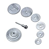 Material: HSS. Color: Sliver. Maximum RPM: 20,000 Hole diameter: 6.35mm. Mandrel diameter: 3.17mm. Blade Diameter: 22mm, 25mm, 32mm, 35mm, 44mm, 50mm Install precaution: The mandrel must be into bottom and the screw of the rod must be tighted, and su...