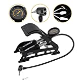 INTSUN Double Barrel Bike Floor Foot Pump, Car Tire Air Pump with Pressure Gauge & Smart Valve Head Tire Inflator for Bicycles, Cars, Scooters, Motorcycles, Balls & Other Inflatables