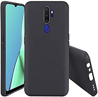 Oppo A9 2020 Case Cover back Ultra Light Slim Shockproof Silicone for Oppo A9 2020 - Black by Nice.Store.UAE