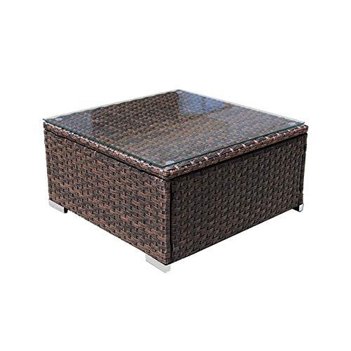 DIMAR garden Outdoor Coffee Table Wicker Patio Furniture Conversation Set Lawn Garden Tea Table...