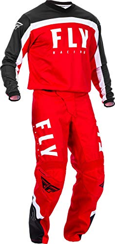 2020 Fly F-16 Adult MX Gear Combo (Red/Black/White) (Red/Black/White, XLarge 34