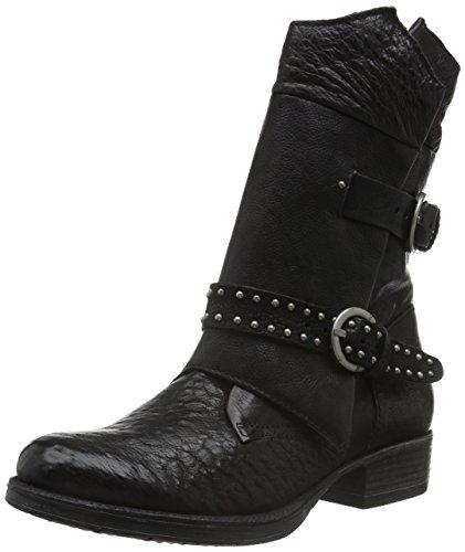 Mjus Damen 185456-0101-6002 Biker Boots, Schwarz (Nero), 38 EU