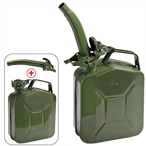 Monzana Tanica per benzina 5 L con Beccuccio staffa di sicurezza Certificazione-UN Metallo Diesel Carburante Bidone Contenitore