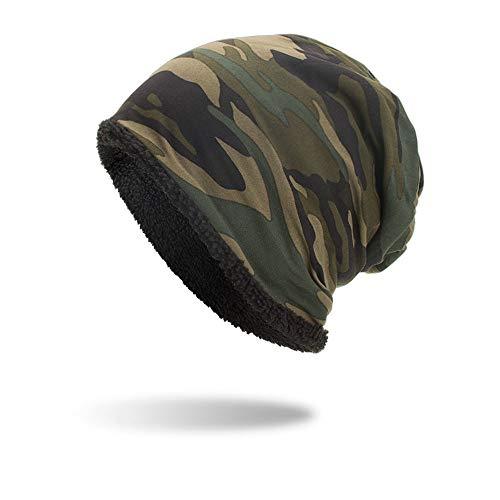 Unisex Warme Wintermütze Baggy Camouflage Häkeln Hat Winter Wolle Ski Beanie Kappen Klassische Slouch Mütze Leicht Weich elastisches...