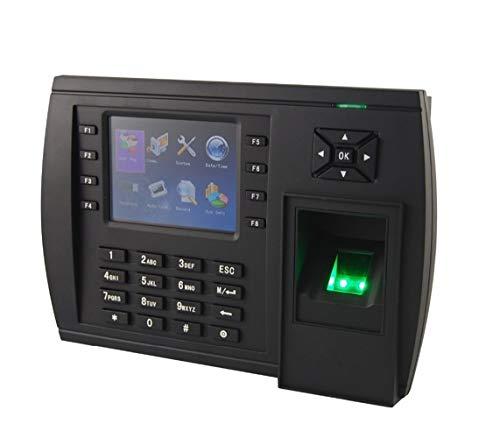 HEQIE-YONGP Timeuhren für Mitarbeiter Kleinunternehmen Echtzeit-Datenübertragung Fingerabdruck Uhr mit Wireless-ID Reader Option
