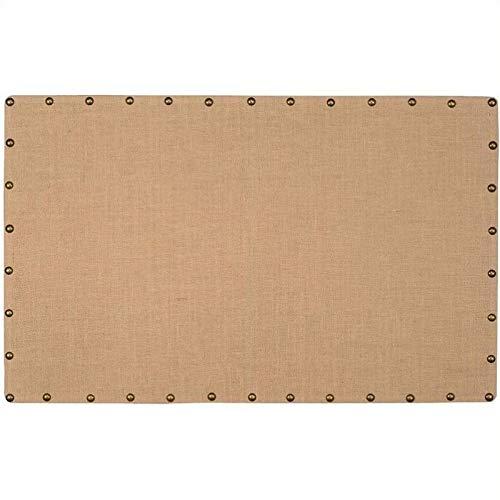 Pemberly Row Large Nailhead Corkboard in Burlap