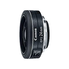Wide angle lens for Canon APS C cameras (equivalent to 38 millimeter on a full frame camera) Focal length & maximum aperture: 24 millimeter 1:2.8, maximum magnification of x0.27 Slimmest and lightest lens of the EF S series Circular aperture (7 blade...