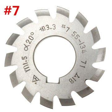 Forspero Modul 1.5 Pa20 Bohrung 22 Mm # 1-8 Hss Involute Zahnradfräser - # 7