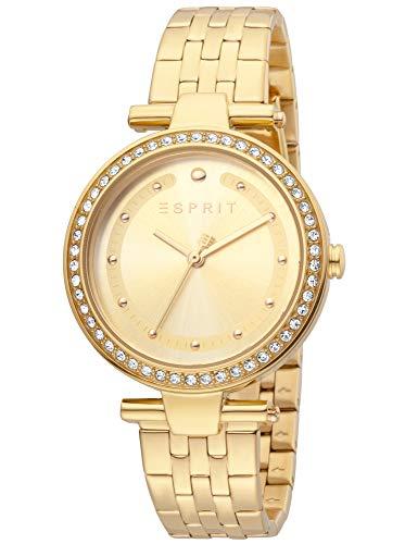 Esprit ES1L153M0065 Fine Champagne Gold Uhr Damenuhr vergoldet 5 bar Analog Gold
