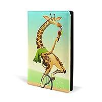 ブックカバー a5 ジラフ きれい おしゃれ 文庫 PUレザー ファイル オフィス用品 読書 文庫判 資料 日記 収納入れ 高級感 耐久性 雑貨 プレゼント 機能性 耐久性 軽量