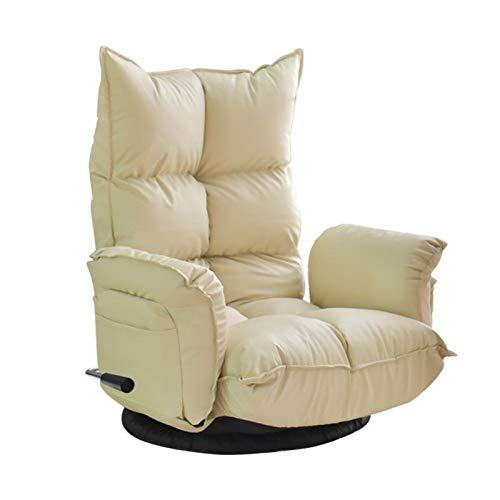 LZRDZSW Terciopelo Silla plegable piso, ajustable del respaldo Reposacabezas ángulo cómodo sofá perezoso, conveniente for el hogar Oficina meditación, Ver la TV o juegos de salón del balcón Presidente