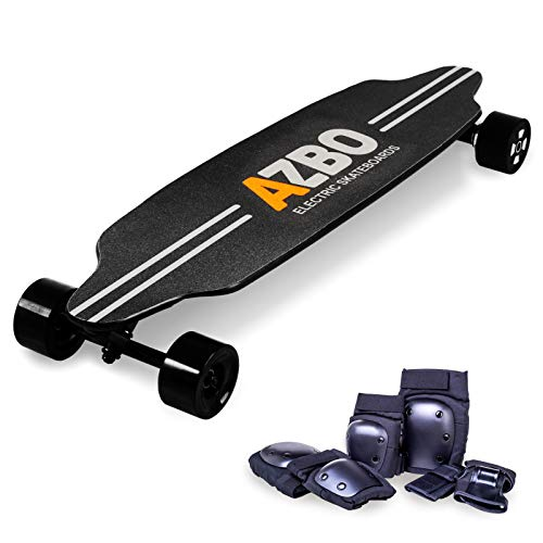 AZBO Electric Skateboard Longboard with Remote Control 2000W Dual Motor high Speed 25 mph e-Skateboard for Adults and Youths | 19 Miles Range (Black Wheels)