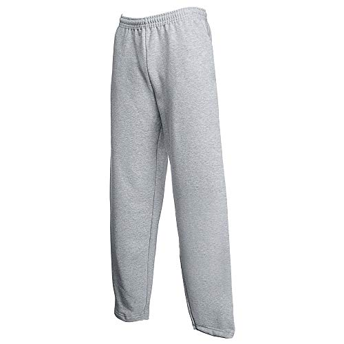 Fruit of the Loom Herren-Jogginghose ohne Bündchen Gr. 36-41, grau meliert