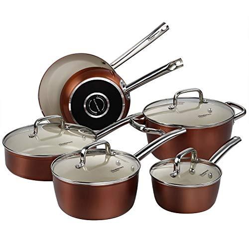 COOKSMARK Pots and Pans Set, Nonstick Ceramic...