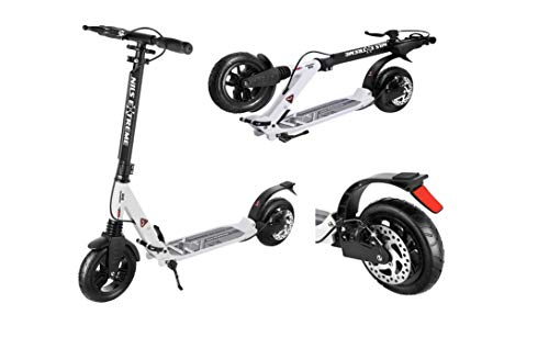 NILS Kickscooter mit Luftreifen Tret-Rollerklappbar City Scooter Extreme