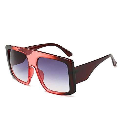 Oversized zonnebril Dames Bruine zonnebril Heren Dames Retro Plastic Zonnebril Roze Trendy zonnebril D