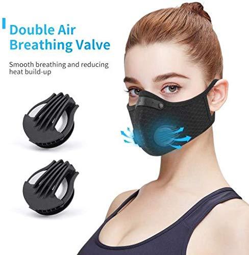 Homthing Anti Pollution Mask Aktivkohle Staubdichte Maske mit N95-Filtern Arbeiten im Freien Pollenallergie Holzbearbeitung Mähen Laufen Radfahren