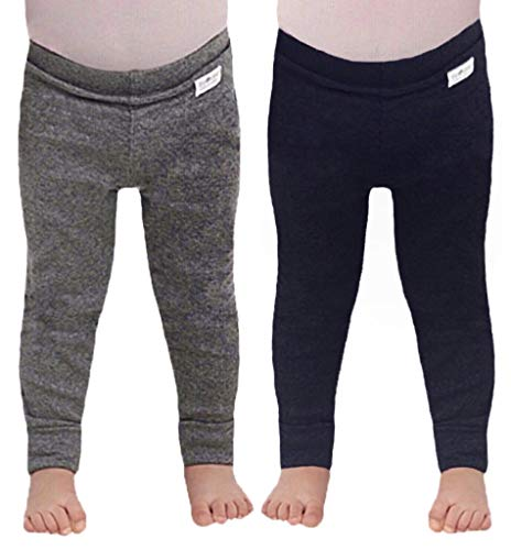 Tiny One Baby Hosen   Leggings   im 2er Set   Unisex   Mädchen und Jungen   Schwarz   Grau   Blau   Biologische Baumwolle   GOTS   0-18 Monate, Farbe:Unifarben - Set 1, Größe:68   4-6 Monate