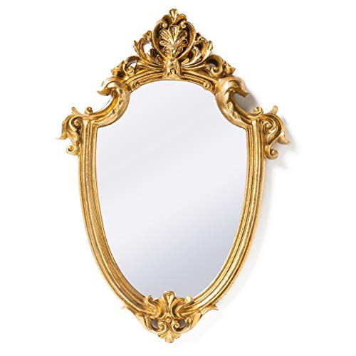 Funerom Vintage Decorative Wall Mirror Gold