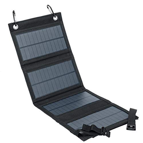 Módulo electrónico Bolso plegable de panel solar de SunPower con salida USB y 2 * Mosquetón para ciclismo/escalada/Senderismo/Camping 40W Equipo electrónico de alta precisión