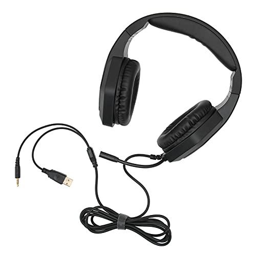 Gedourain Auriculares para Juegos con Micrófono, ABS Auriculares para Juegos con Luces RGB para PS5 / Pc / / Laptop / 3DS / Tablet