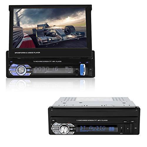 USB2,0 Autoradio mit HD 7 Zoll Touchscreen, Auto Multimedia Player, Bluetooth MP5 Player Unterstützt Bluetooth Freisprecheinrichtung, AUX, USB, Memory Karte