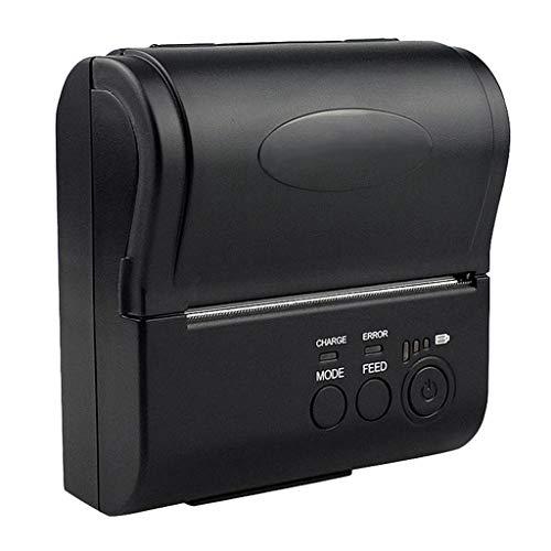 ZZHJYD Impresora térmica de 80 mm con batería de 2000mAh, Bluetooth, Soporte Sistema iOS de Android
