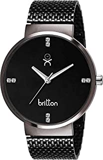 Britton Black Dial Men's Analogue Watch-BR-GR46-BLK-BLK-SCH