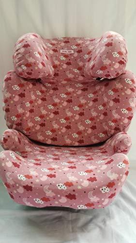 MOON-BEBE BEZUG FUR Kinder-Autositz Cybex Solution Q2 Fix pink (clouds)