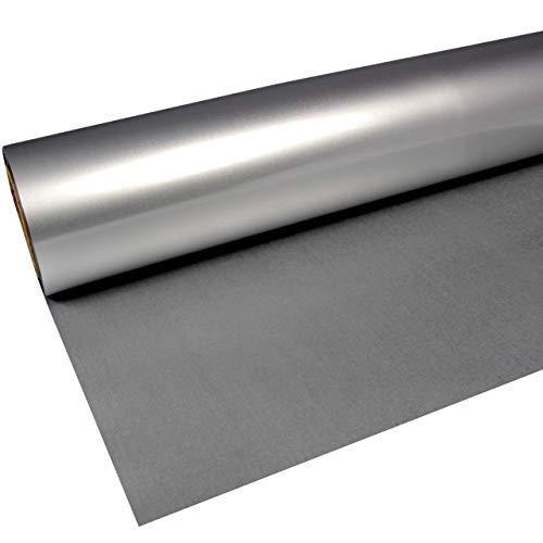 Rapid Teck® 11,98€/m² 1m x 0,5m Flex-Folie 630 Silber Metallic Bügelfolie Premium Poli PU Folie