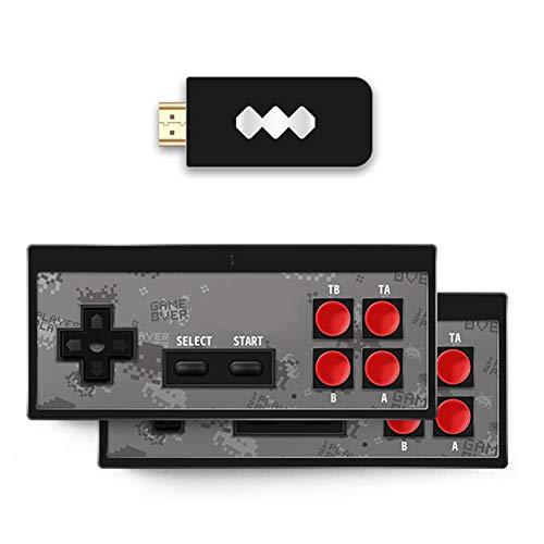 Glomixs Retro Stick USB Wireless-Handheld für TV-Videospiele Langlebiger Videospiel-Controller Eingebauter 568 Classic Games Mini Retro-Konsole Classic Gaming System Console