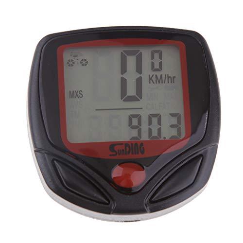 perfk Universal Tachometer Digitaltacho Digital Motorrad Tacho Geschwindigkeitsmessgerät LCD Digitaler Tachometer