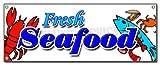 Fresh Seafood Banner Sign Fish Market Shrimp New Signs