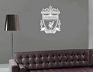 BYRON HOYLE Liverpool Wall Decal Liverpool Sticker for Living Room Kids Room Home Decor You'll Never Walk Alone Vinyl Decal YNWA