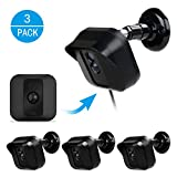 Blink Xt Camera Wall Mount Bracket Weather proof 360 Degree Protective Adjustable Indoor Outdoor Mount and Cover for Blink Xt Outdoor Camera Security System Antisun Glare UV Protection 3 Pack Black