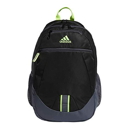 adidas Foundation Backpack, Black/Obnix/Green V5, OSFA