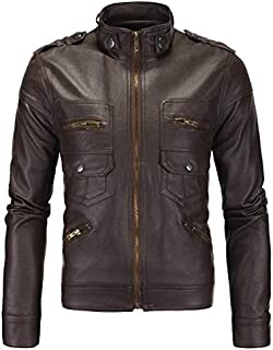 Biker Leather Jacket For Men Large