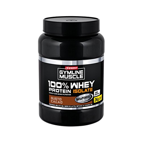 Enervit Gymline Muscle 100% Whey Protein Isolate + Betaina Gusto Cacao Integratore Alimentare 700g