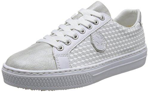 Rieker Damen L59B4 Low-top, Weiß (White-Silver/Weiss/Silber/Argento), 36 EU