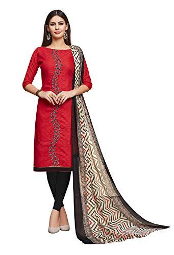 Indisches Designer-Hochzeitskleid, Salwar Anzug-Kleid für Frauen - Rot - XX-Large
