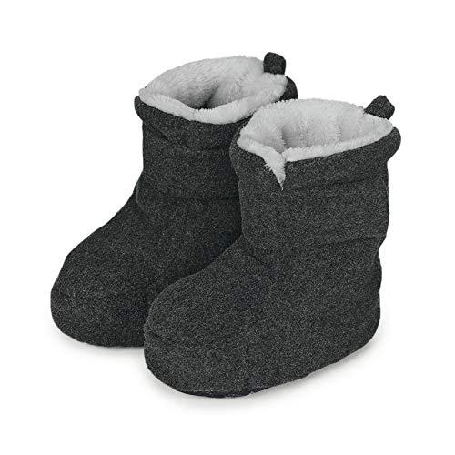 Sterntaler Jungen Baby Stiefel mit Klettverschluss, Farbe: Anthrazit melange, Größe: 19/20, Alter: 12-18 Monate, Artikel-Nr.: 5101616