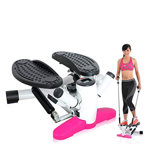 Stepper Fitness 2in1 con Elastici incl, Movimento Laterale e Rotante valido Sia per Principianti Che esperti, Mini Stepper con contatore, per Fitness e Aerobica