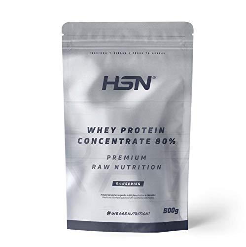 Concentrado de Proteína de Suero de HSN | Whey Protein Concentrate 2.0 | Batido de Proteínas en Polvo | Vegetariano, Sin Gluten, Sin Soja, Sin Sabor | 500g