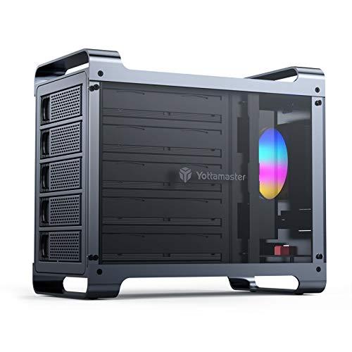 "Yottamaster 5 Bay RAID External Hard Drive Enclosure 2.5""&3.5"" SATA"