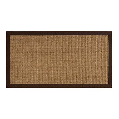 100% puro de alfombra de sisal corcho amazon con frontera de diferentes tamaños, beige, 200 x 290...