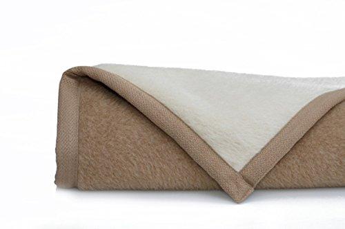 Ritter Decken Alpaka Decke 150x200 cm Creme/Kamel Lima Star aus 100% feinstes Alpaka aus eigener Herstellung. Wohndecke 201/7241