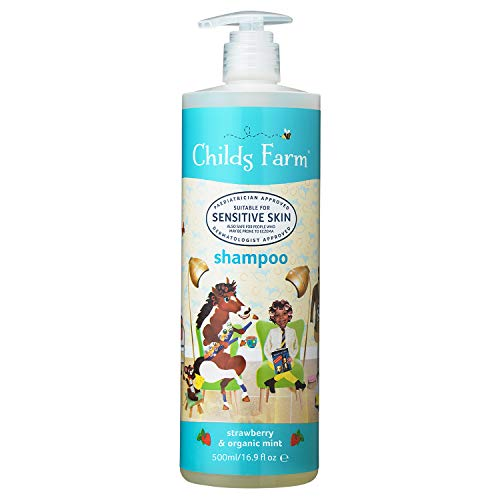 Childs Farm aardbei- en bio-mint-shampoo, 500 ml