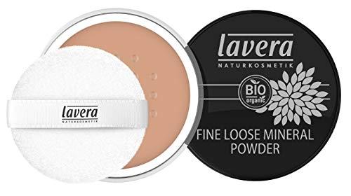lavera Fine Loose Mineral Powder -Almond 05- Hauchzartes, federleichtes Puder ∙ Natürliche Mattierung ∙ Vegan Naturkosmetik Natural Make-up Bio Pflanzenwirkstoffe 100% natürlich (1x 8 g)