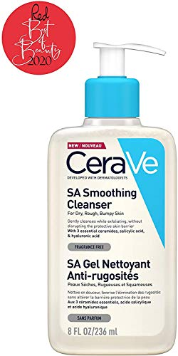 CeraVe SA Smoothing Cleanser | 236ml/8oz | Face and Body Wash with Salicylic Acid